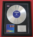 WHAM GEORGE MICHAEL - The Best Of WHAM CD / PLATINUM PRESENTATION DISC